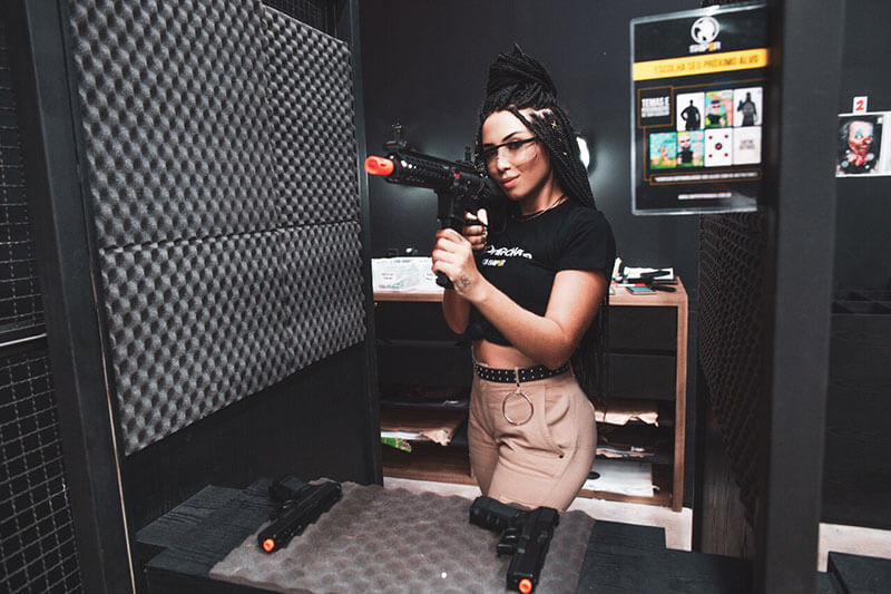 Mulher airsoft